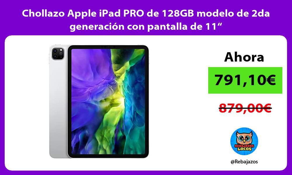 Chollazo Apple iPad PRO de 128GB modelo de 2da generacion con pantalla de 11