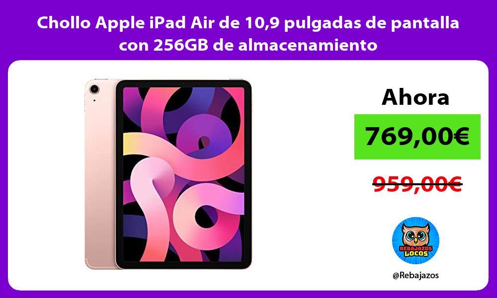 Chollo Apple iPad Air de 109 pulgadas de pantalla con 256GB de almacenamiento