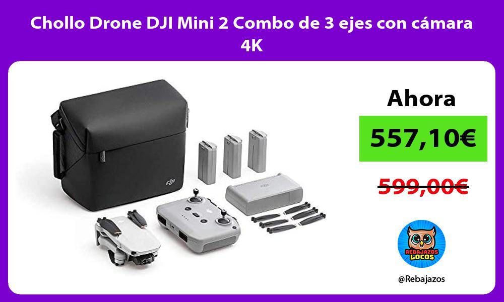 Chollo Drone DJI Mini 2 Combo de 3 ejes con camara 4K