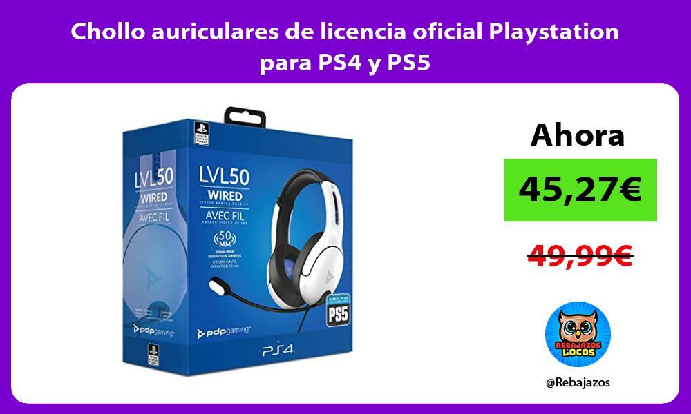 Chollo auriculares de licencia oficial Playstation para PS4 y PS5