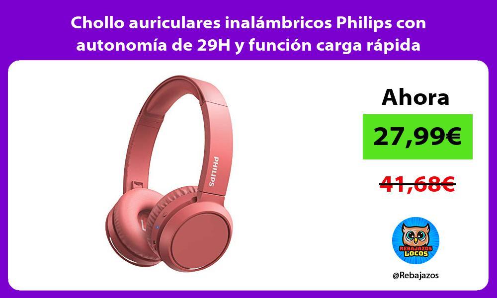 Chollo auriculares inalambricos Philips con autonomia de 29H y funcion carga rapida inteligente