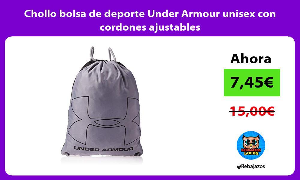 Chollo bolsa de deporte Under Armour unisex con cordones ajustables