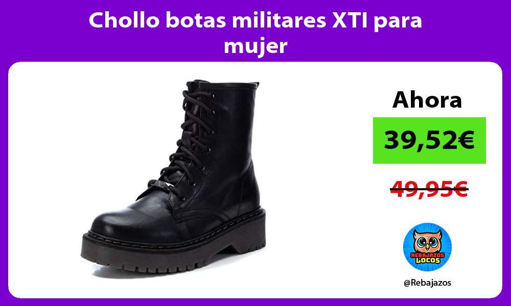 Chollo botas militares XTI para mujer