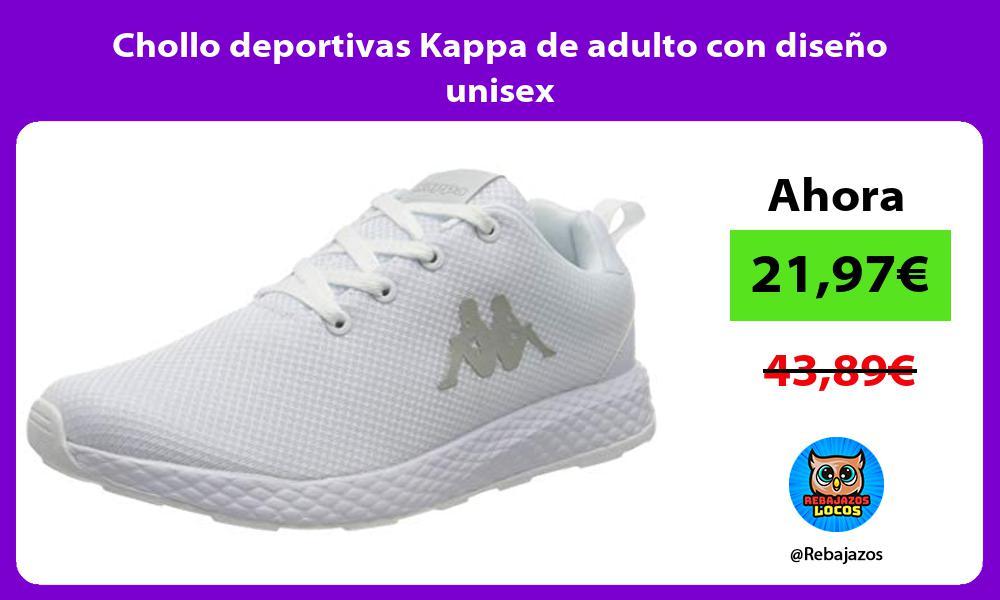 Chollo deportivas Kappa de adulto con diseno unisex