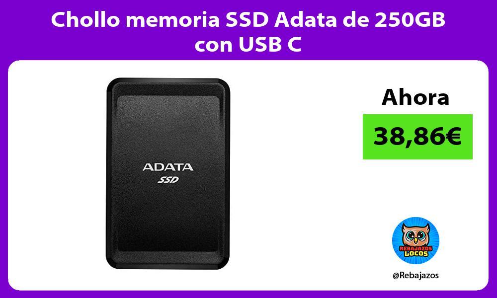 Chollo memoria SSD Adata de 250GB con USB C