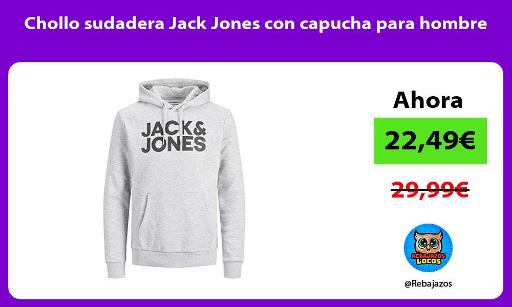 Chollo sudadera Jack Jones con capucha para hombre