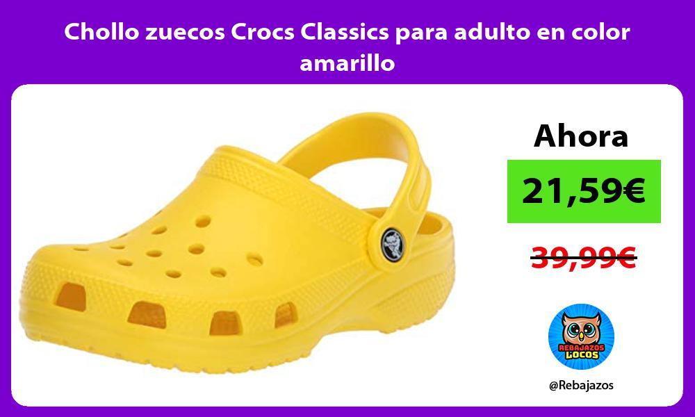 Chollo zuecos Crocs Classics para adulto en color amarillo
