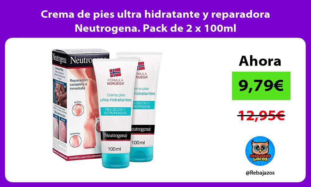Crema de pies ultra hidratante y reparadora Neutrogena Pack de 2 x 100ml