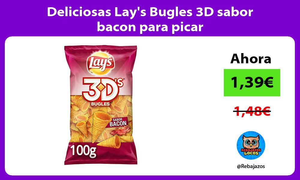 Deliciosas Lays Bugles 3D sabor bacon para picar