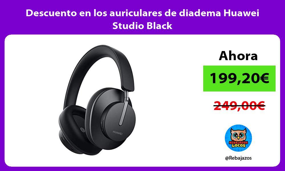 Descuento en los auriculares de diadema Huawei Studio Black