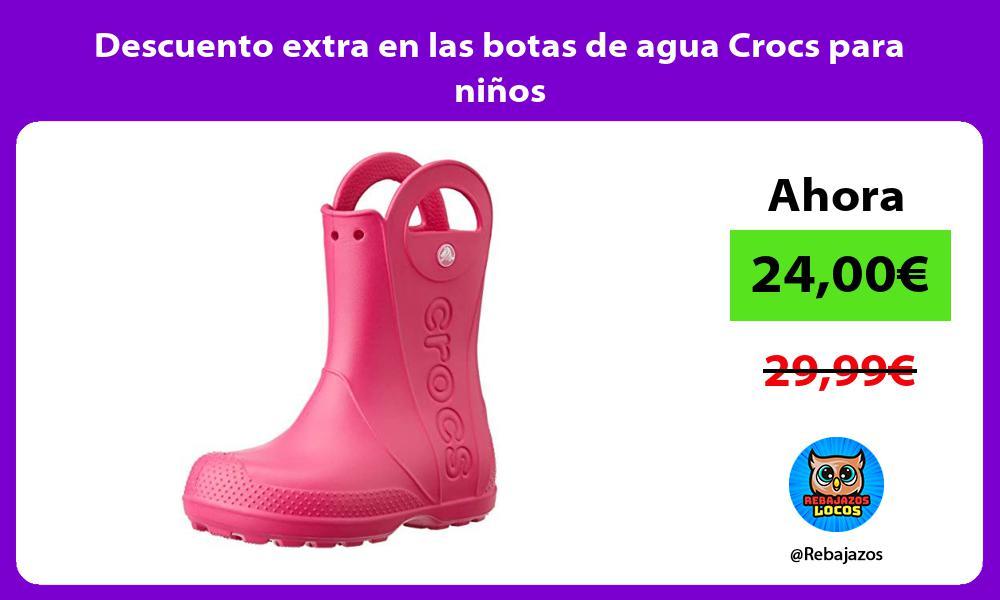 Descuento extra en las botas de agua Crocs para ninos