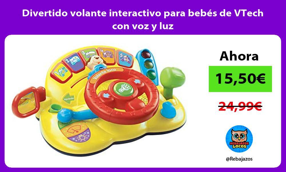 Divertido volante interactivo para bebes de VTech con voz y luz