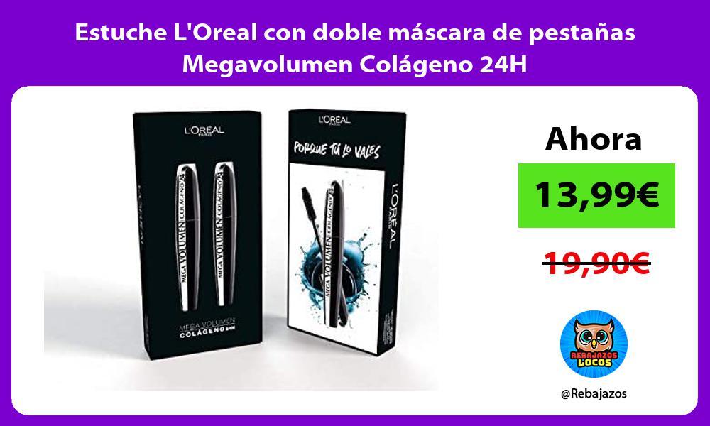 Estuche LOreal con doble mascara de pestanas Megavolumen Colageno 24H
