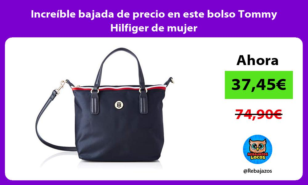 Increible bajada de precio en este bolso Tommy Hilfiger de mujer