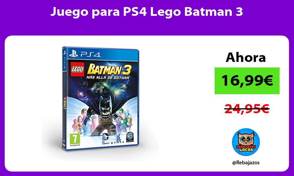 Juego para PS4 Lego Batman 3