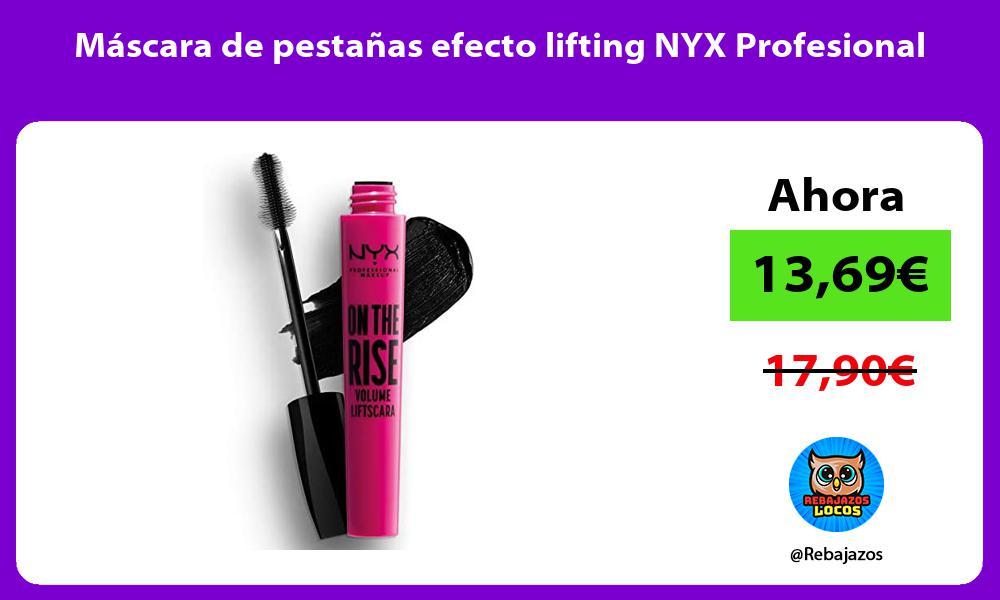 Mascara de pestanas efecto lifting NYX Profesional
