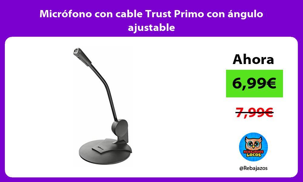 Microfono con cable Trust Primo con angulo ajustable