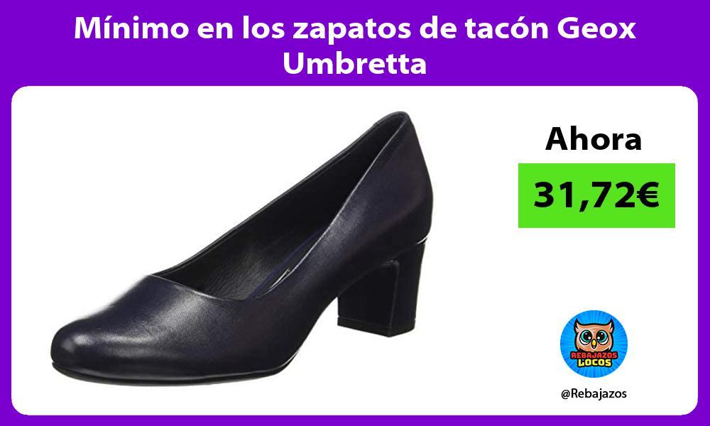Minimo en los zapatos de tacon Geox Umbretta