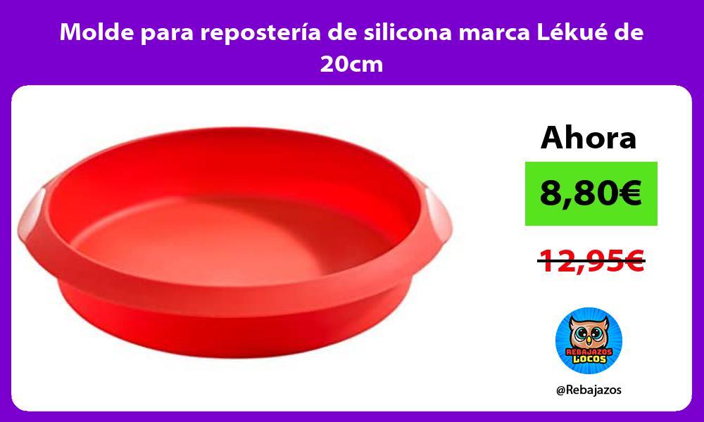 Molde para reposteria de silicona marca Lekue de 20cm