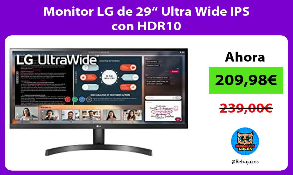 Monitor LG de 29 Ultra Wide IPS con HDR10