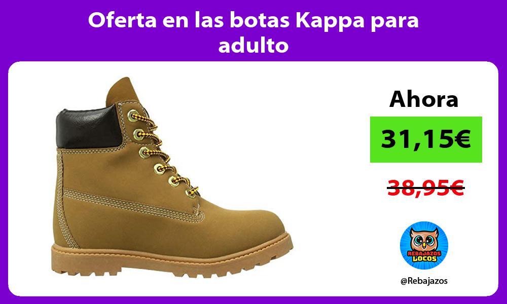 Oferta en las botas Kappa para adulto