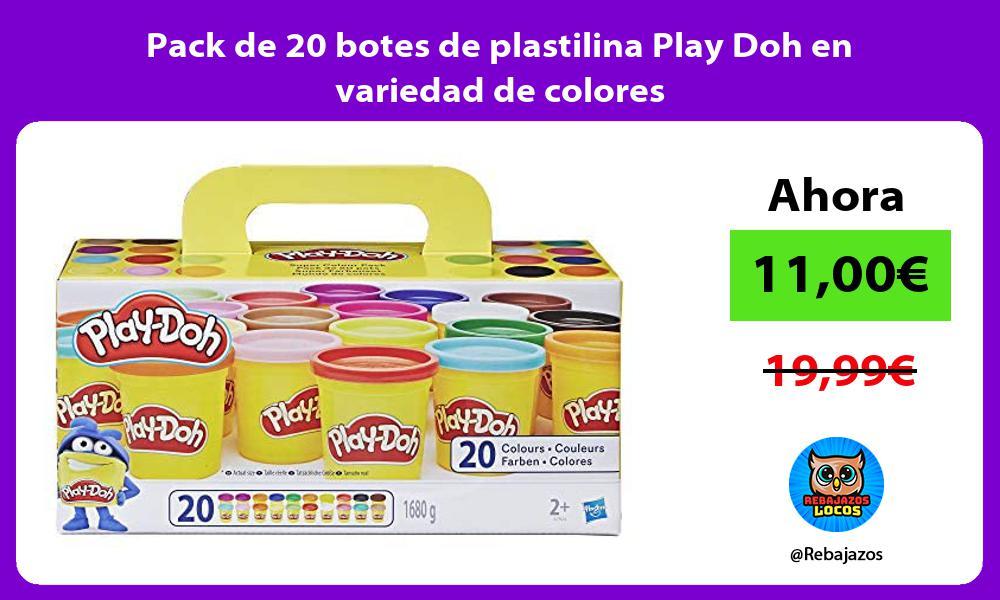 Pack de 20 botes de plastilina Play Doh en variedad de colores