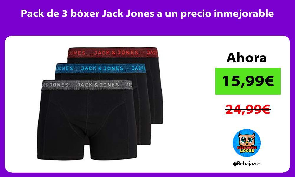Pack de 3 boxer Jack Jones a un precio inmejorable