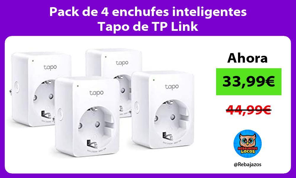 Pack de 4 enchufes inteligentes Tapo de TP Link