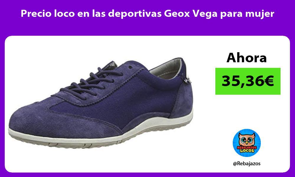 Precio loco en las deportivas Geox Vega para mujer