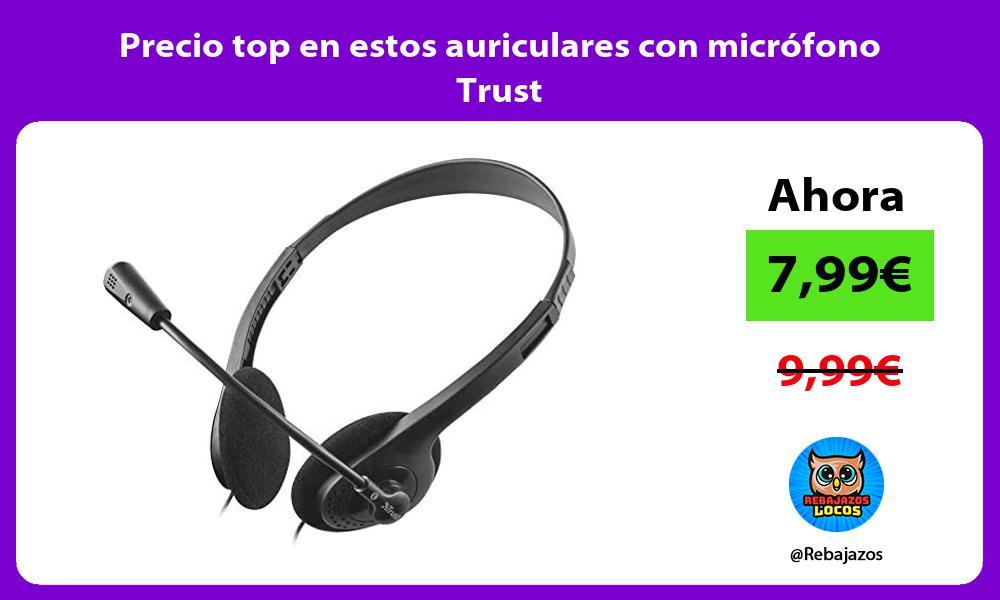 Precio top en estos auriculares con microfono Trust