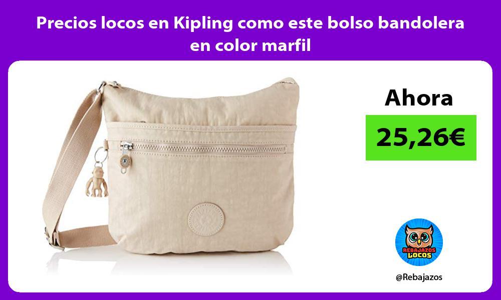 Precios locos en Kipling como este bolso bandolera en color marfil