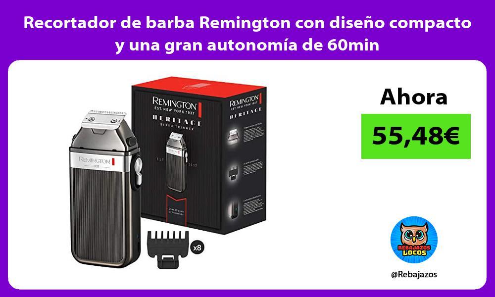 Recortador de barba Remington con diseno compacto y una gran autonomia de 60min