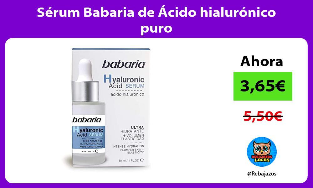 Serum Babaria de Acido hialuronico puro