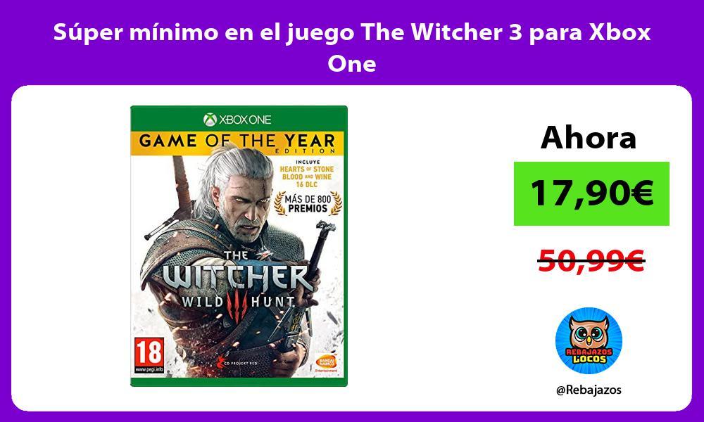 Super minimo en el juego The Witcher 3 para Xbox One