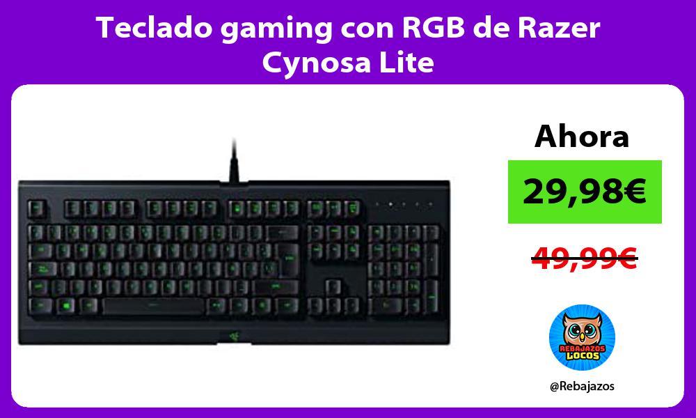 Teclado gaming con RGB de Razer Cynosa Lite