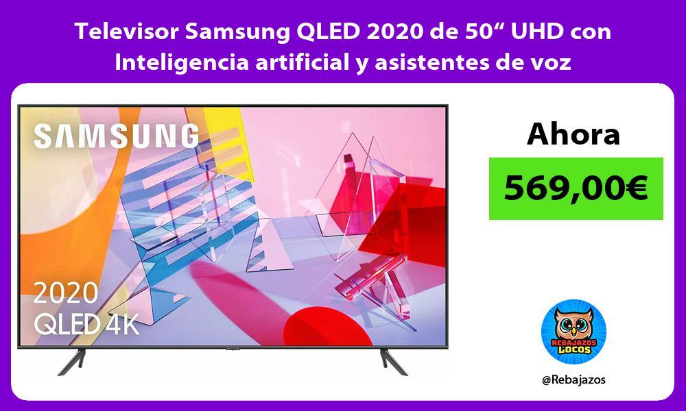 Televisor Samsung QLED 2020 de 50 UHD con Inteligencia artificial y asistentes de voz