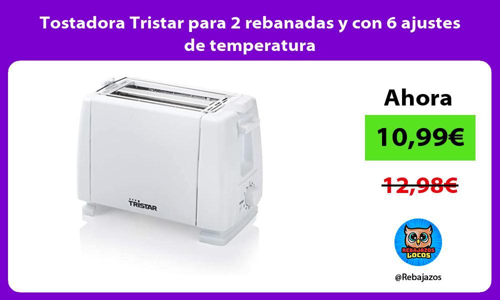 Tostadora Tristar para 2 rebanadas y con 6 ajustes de temperatura