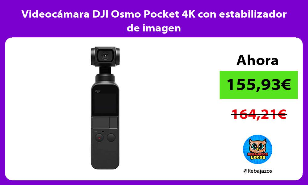 Videocamara DJI Osmo Pocket 4K con estabilizador de imagen