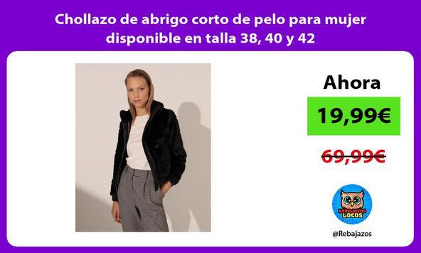 Chollazo de abrigo corto de pelo para mujer disponible en talla 38 40 y 42