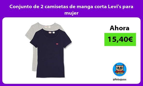 Conjunto de 2 camisetas de manga corta Levis para mujer
