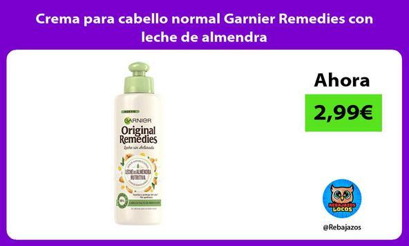 Crema para cabello normal Garnier Remedies con leche de almendra
