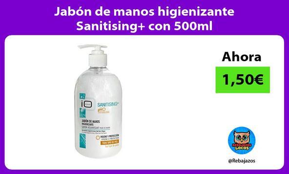 Jabon de manos higienizante Sanitising con 500ml