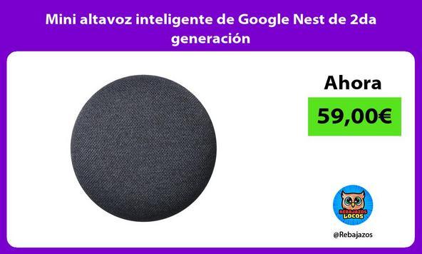 Mini altavoz inteligente de Google Nest de 2da generacion