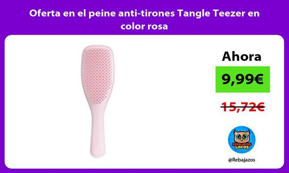 Oferta en el peine anti tirones Tangle Teezer en color rosa