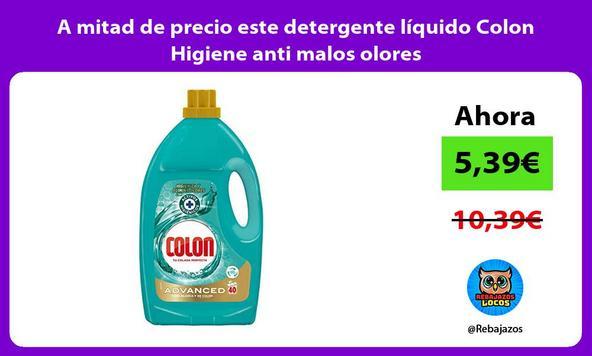A mitad de precio este detergente líquido Colon Higiene anti malos olores