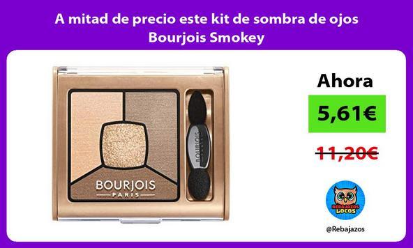A mitad de precio este kit de sombra de ojos Bourjois Smokey