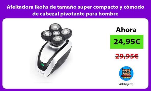 Afeitadora Ikohs de tamaño super compacto y cómodo de cabezal pivotante para hombre