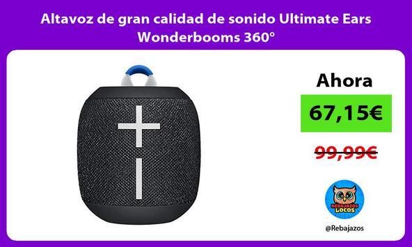 Altavoz de gran calidad de sonido Ultimate Ears Wonderbooms 360°