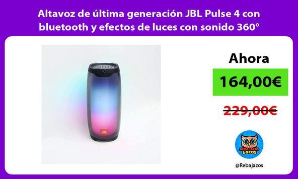 Altavoz de última generación JBL Pulse 4 con bluetooth y efectos de luces con sonido 360°