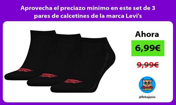 Aprovecha el preciazo mínimo en este set de 3 pares de calcetines de la marca Levi's